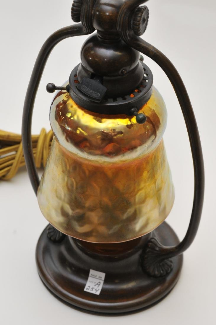 Tiffany Studios bronze desk lamp #21710 with gold - 2