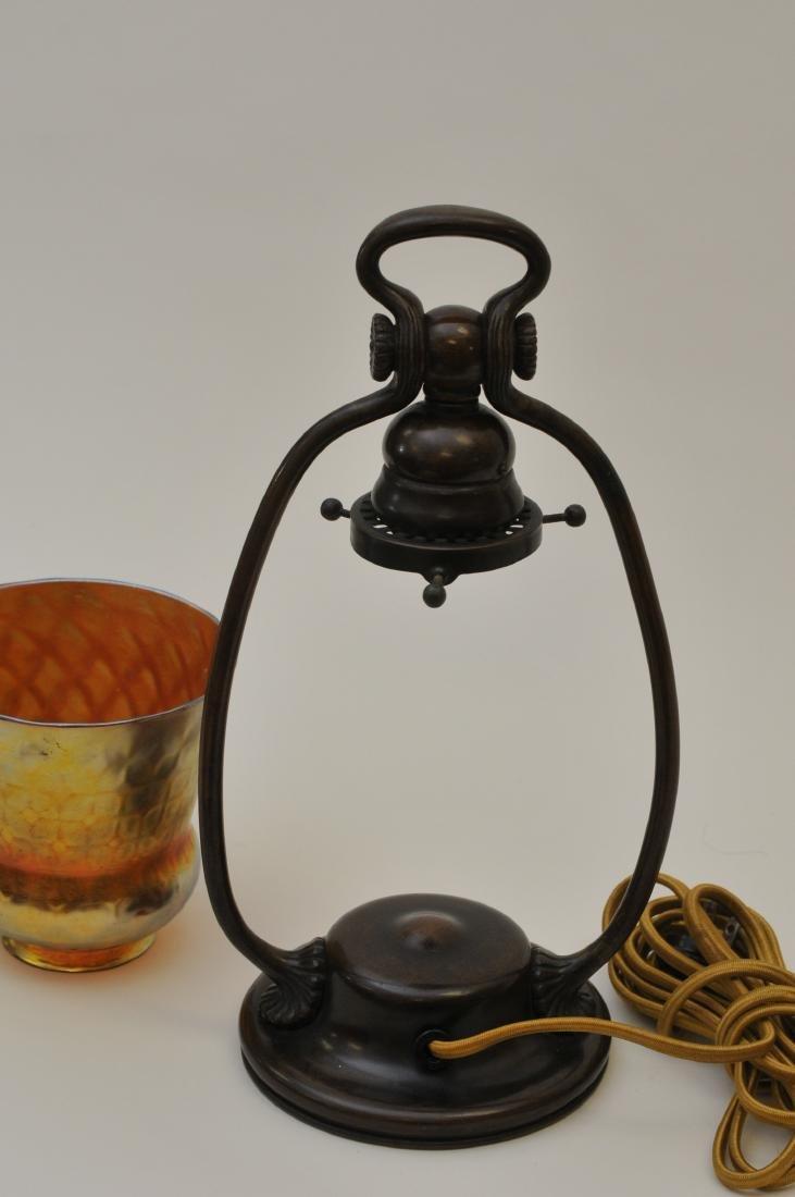 Tiffany Studios bronze desk lamp #21710 with gold - 6