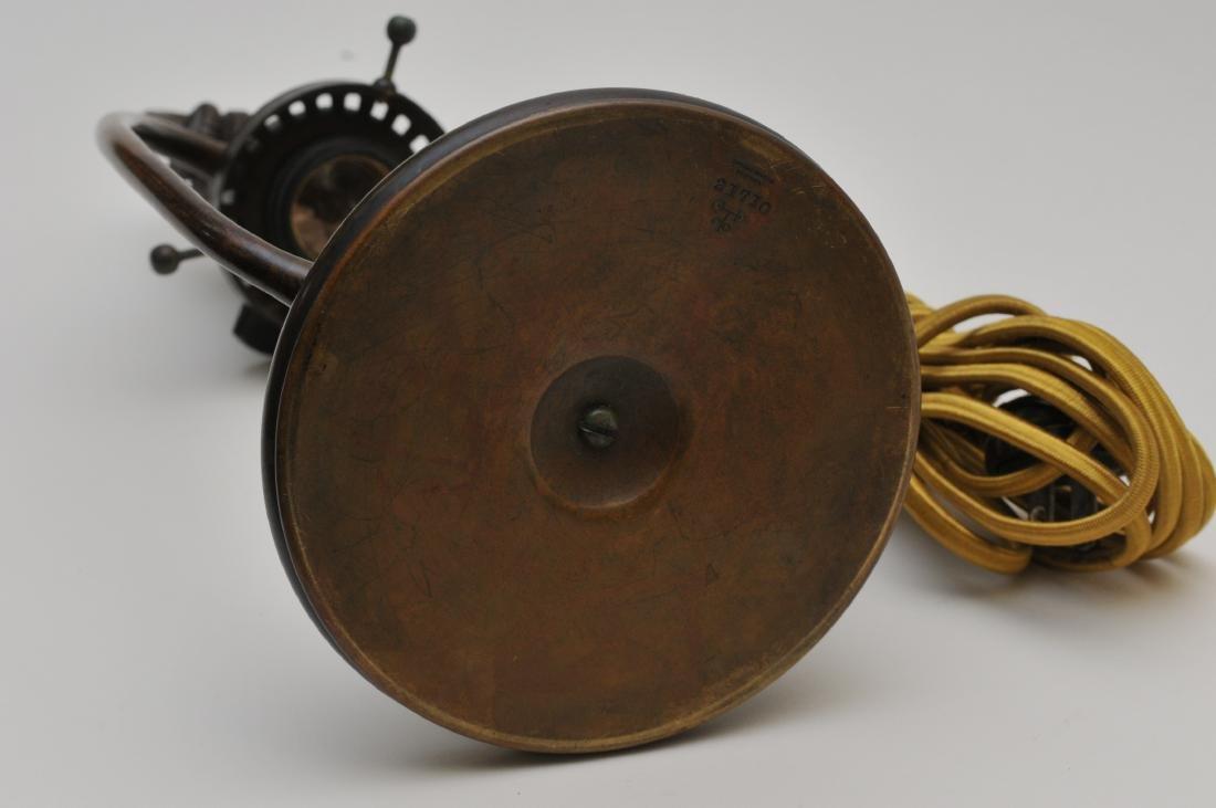Tiffany Studios bronze desk lamp #21710 with gold - 8