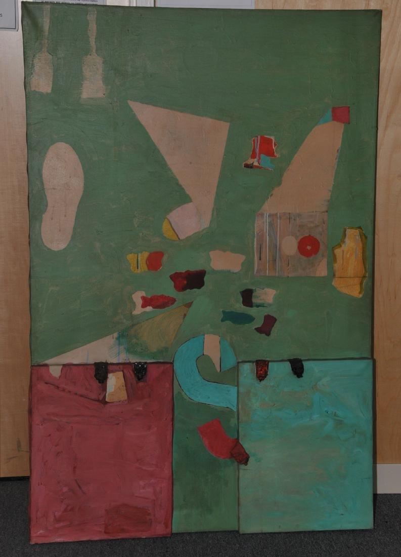 Dan Basen. Modernist three dimensional large painting.