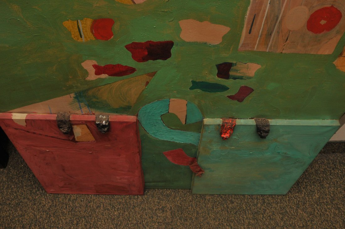 Dan Basen. Modernist three dimensional large painting. - 2