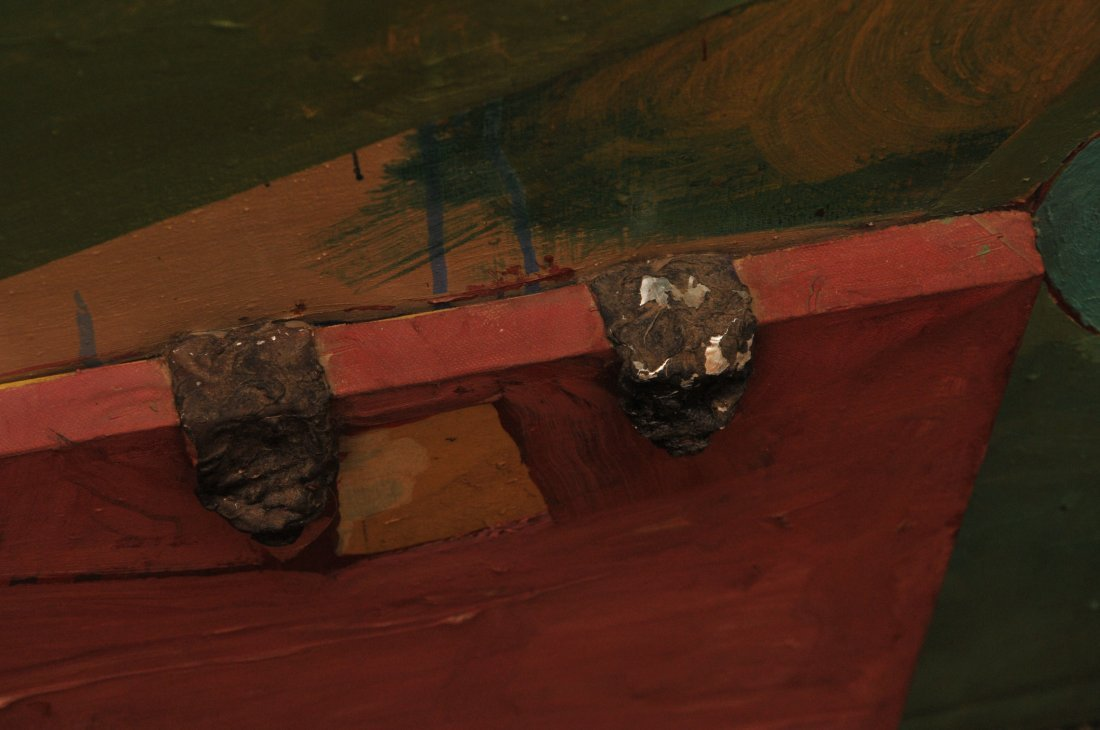 Dan Basen. Modernist three dimensional large painting. - 3