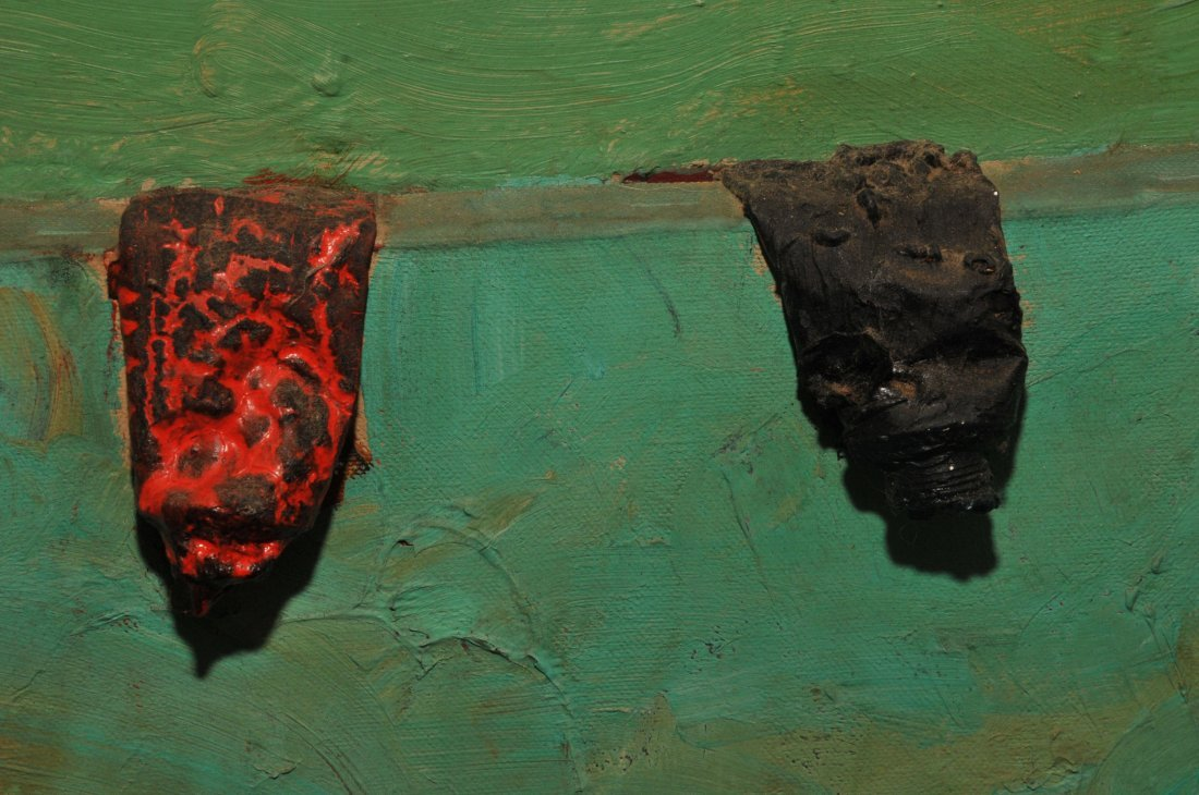Dan Basen. Modernist three dimensional large painting. - 4