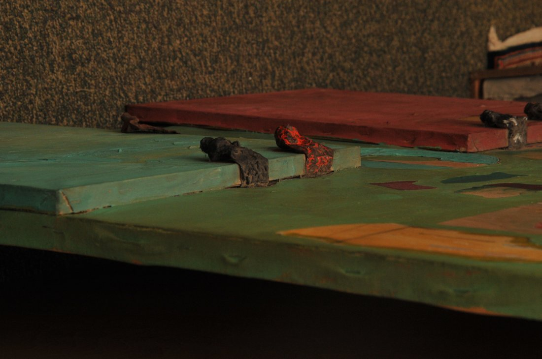 Dan Basen. Modernist three dimensional large painting. - 5