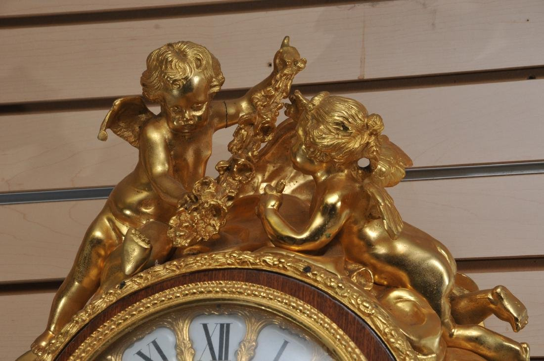 20th century French Louis XIV Barbedienne gilt bronze - 5