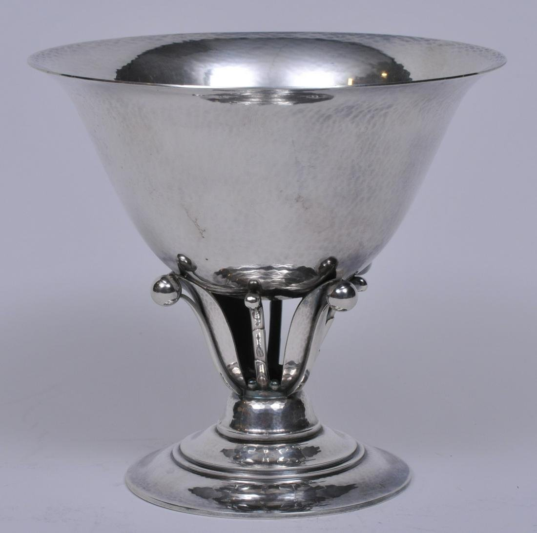 Georg Jensen. Denmark. Sterling silver footed bowl.