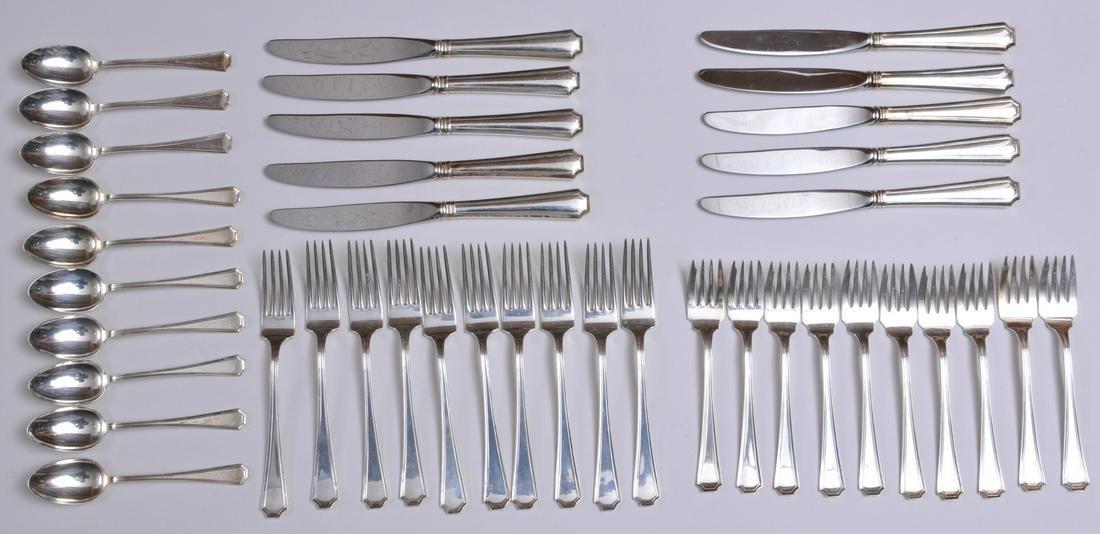 """Gorham sterling silver """"Fairfax"""" pattern 40 piece"""