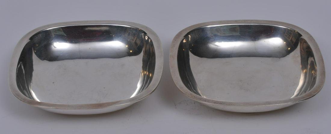 Arthur Stone. Pair of sterling silver Arts and Crats