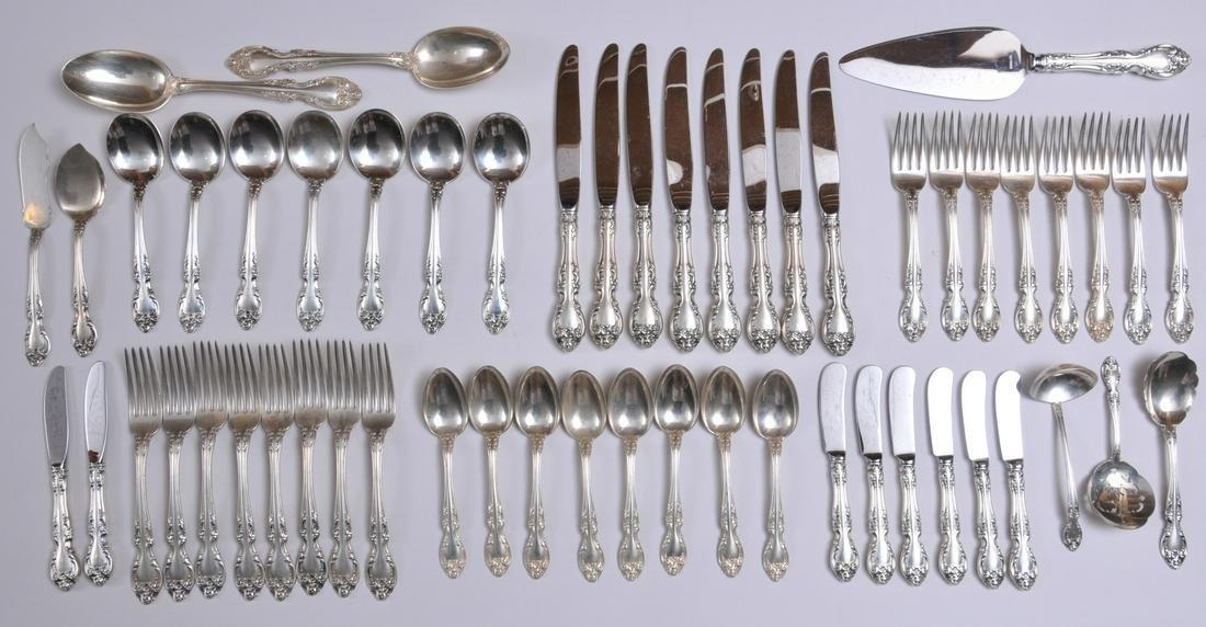 "Gorham sterling silver ""Melrose"" pattern 55 piece"