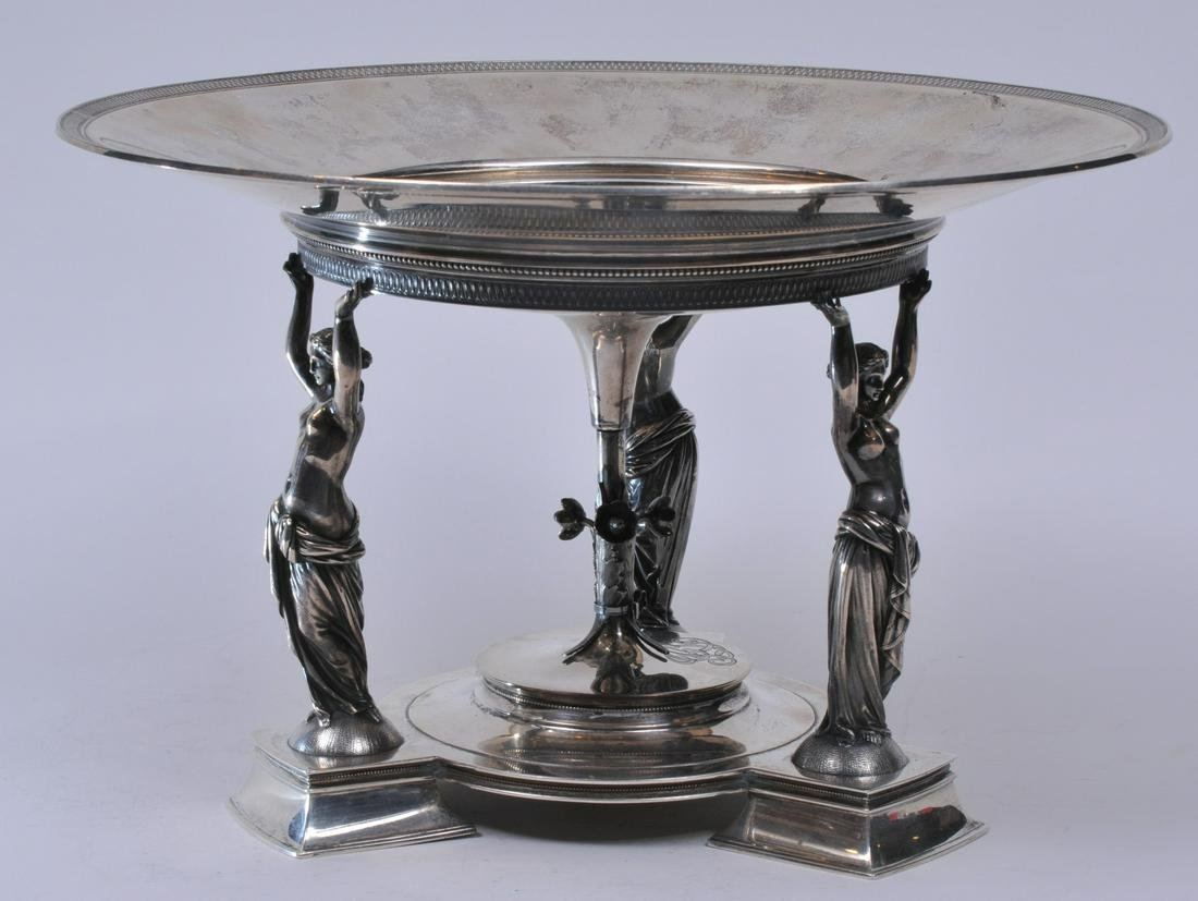 Impressive Gorham Sterling Silver Victorian figural