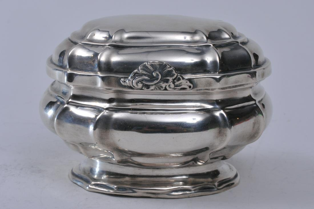 19th century Augsburg silver covered box or tea caddy.