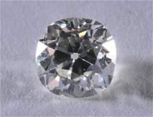 Old Mine brilliant cut diamond, 2.33 carats. J color,