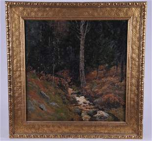 Ben Foster. Large mountain stream forest landscape