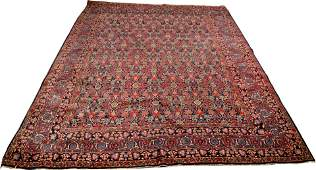 Hand-Knotted Persian Kazvin Wool Rug