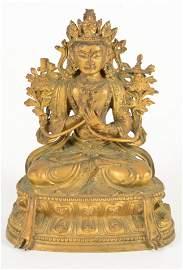 Gilt Bronze Image of Buddha, 18th Century