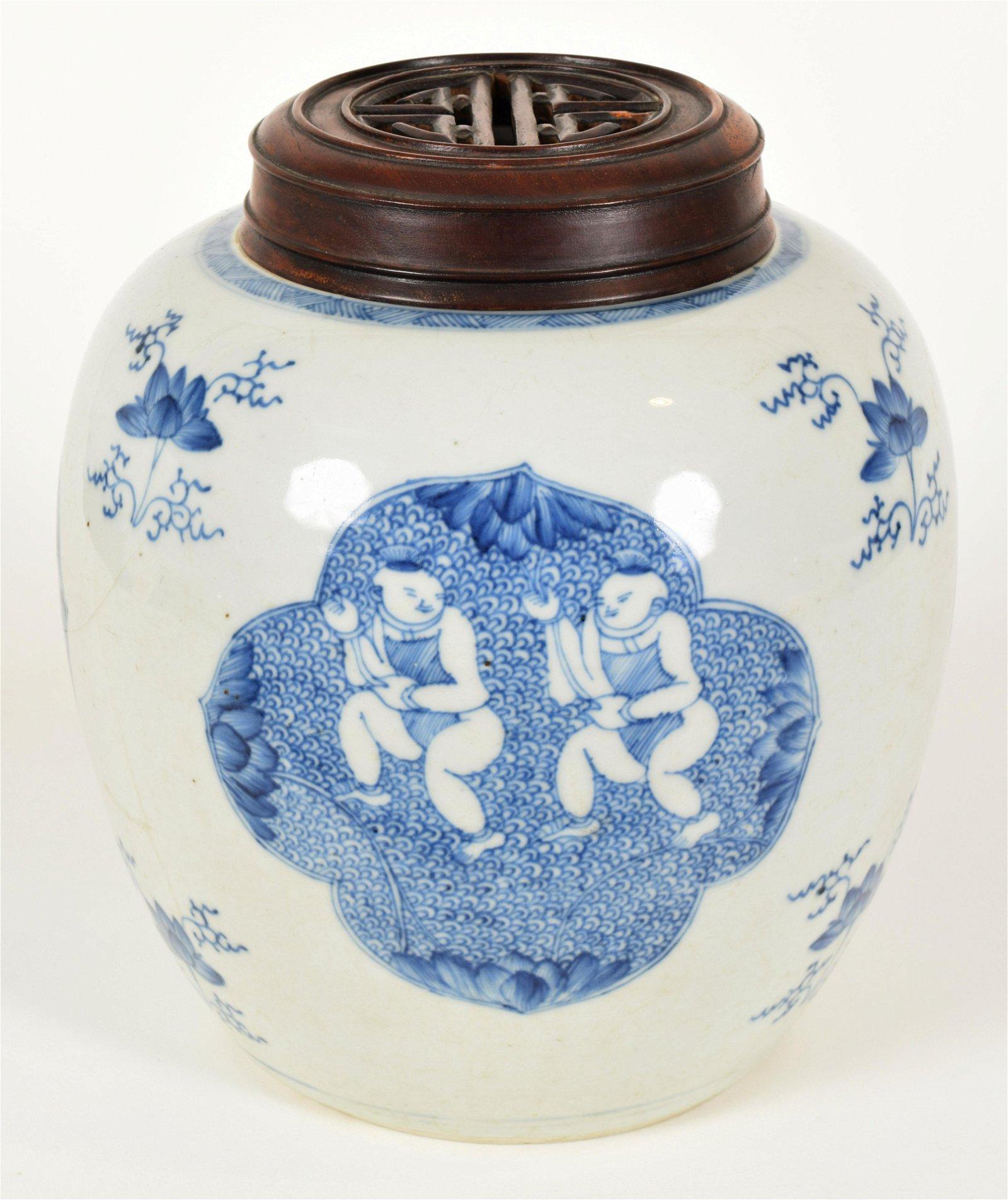 Oviform Porcelain Jar, 19th Century
