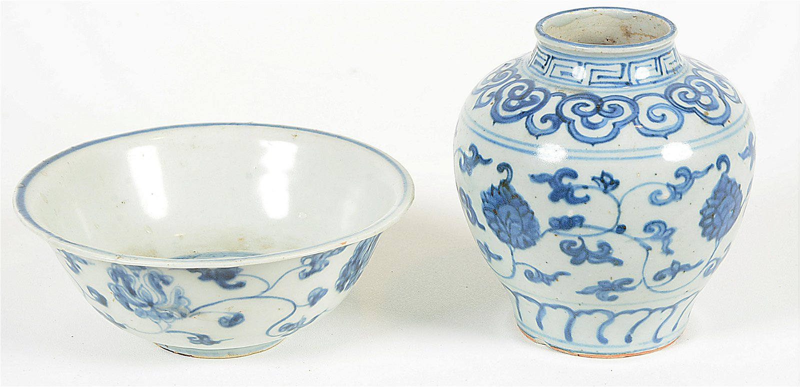 Two Ming Period Porcelain Objects