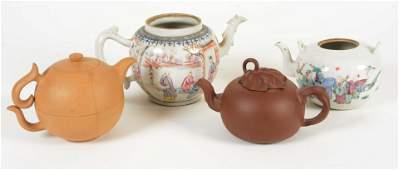 Four Teapots, 18th-20th Centuries