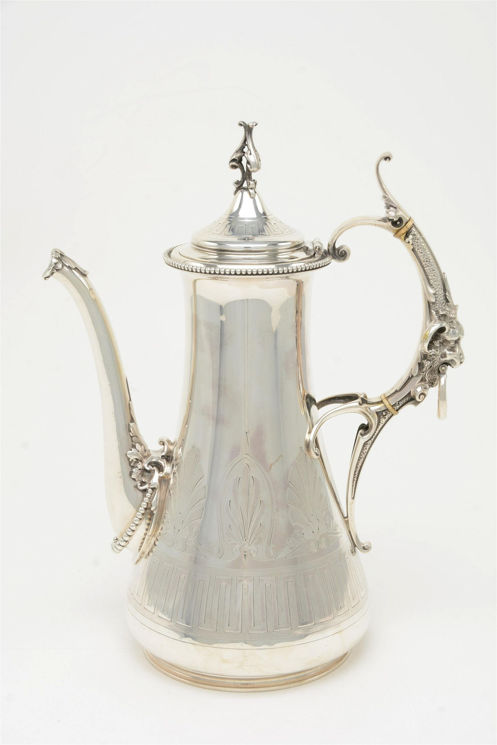 Gorham Sterling Silver Aesthetic Ewer of Coffee Pot