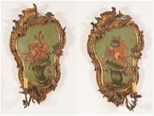 18th/19th Century Italian  Rococo Wall Sconces