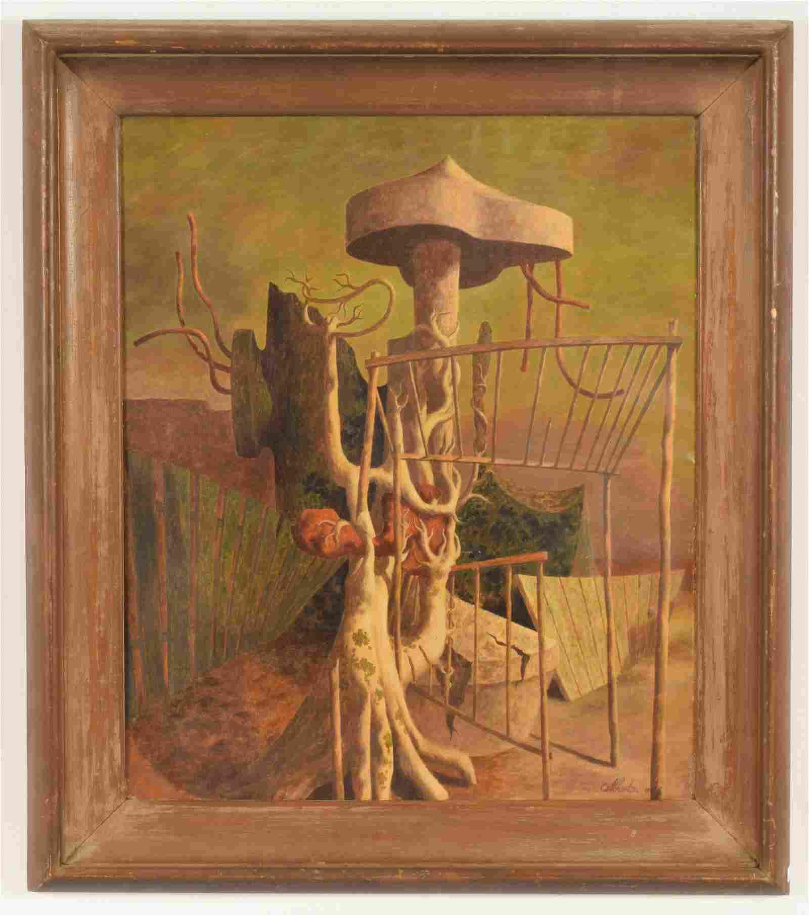 "John Atherton ""Magical Surreal Landscape"" Painting"