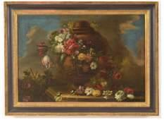Large Dutch Old Master Floral Still Life
