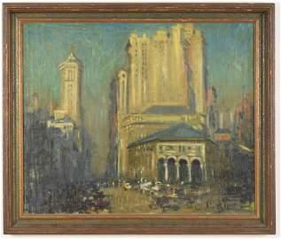 Arthur C. Goodwin New York City Scene Painting
