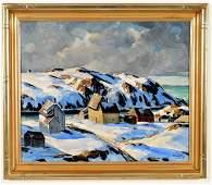 "Andrew Winter. American. ""Blue Snow, Monhegan Island"