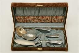 Gorham Victorian ornate sterling silver three piece