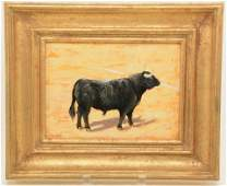 C. H. Louis. Portrait of bull. Toro de Pablo