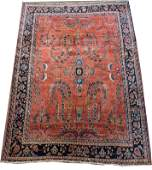 10 x 7ft Hand-knotted Persian Sarouk wool rug, ca.