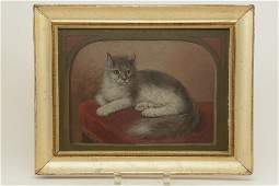 Unsigned, 19 th Century portrait of a cat in a