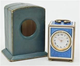 Paul Buhre JTC enameled silver miniature cased travel