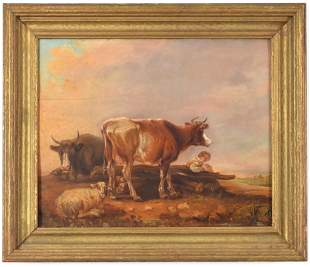 18th/19th century Continental old master painting on