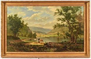 Frederick DeBourg Richards. American. 1880 large Hudson