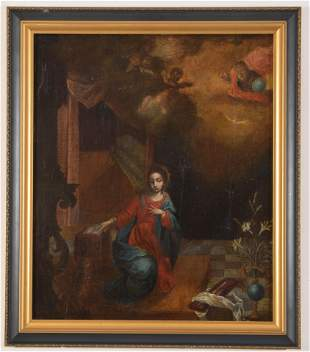 18th century Italian old master painting. Adoration of