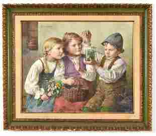 "Edmund Adler. Germany. ""The Little Naturalist"". Fine"