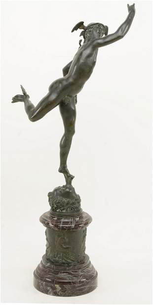 Jean De Bologne Grand tour bronze sculpture of Mercury
