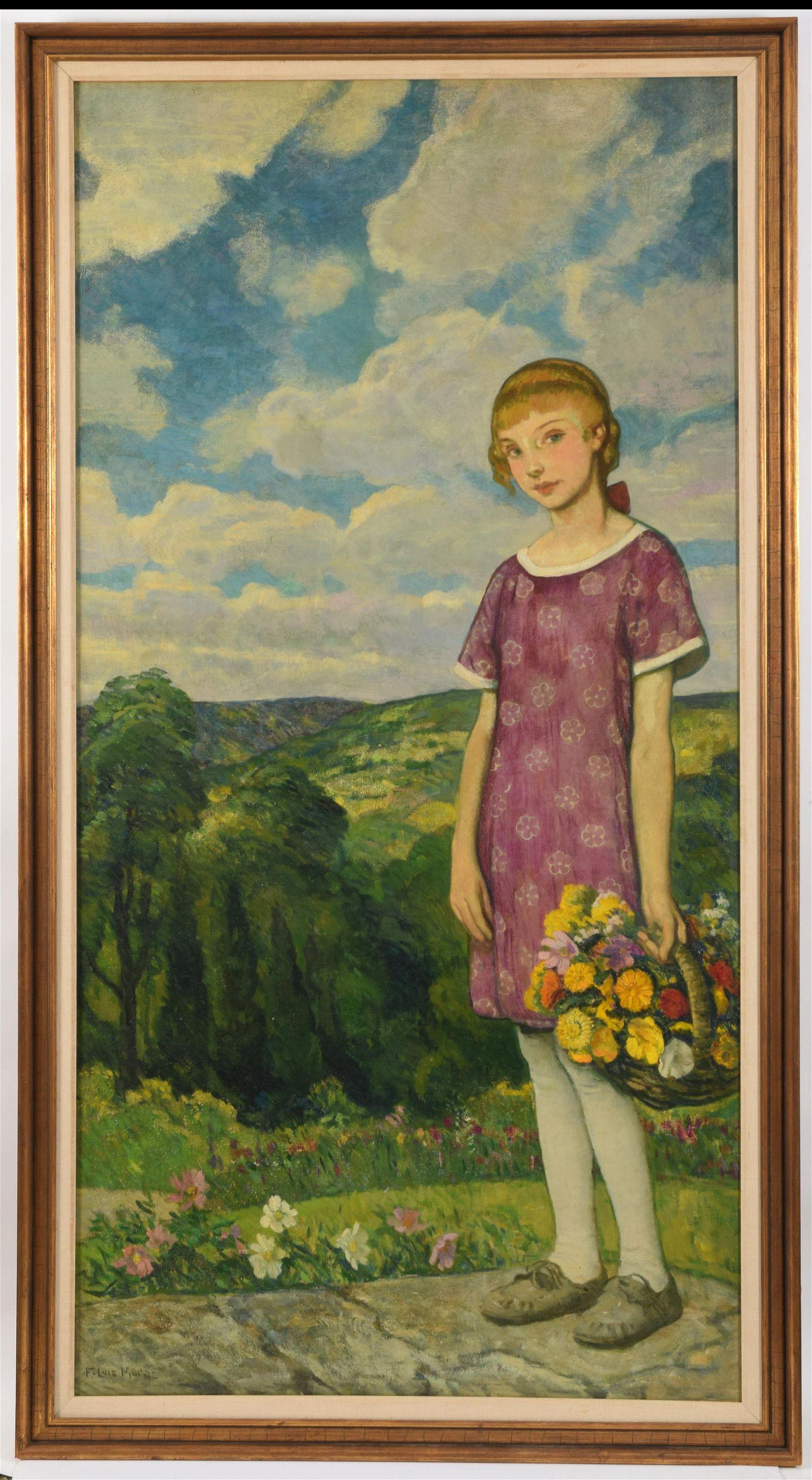 F. Louis Mora. American. Large lifesize painting