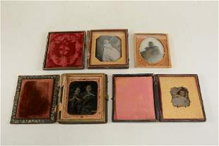 Lot of 4 post mortem 19th century photographs of