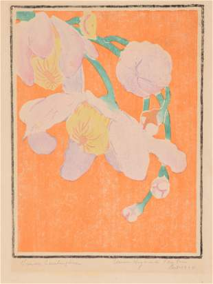 Anna Heyward Taylor. Colored woodblock, titled lower