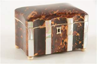 English Regency mother of pearl mounted tortoise shell