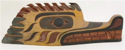 Early 20th century large Northwest Coast carved wood