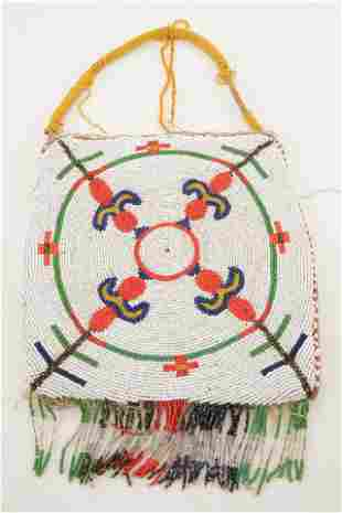 Early 20th century Blackfoot Native American beaded