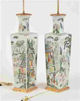 Pair of Massive Porcelain Vases. China. 19th century