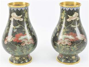 Pair of cloisonne vases. China. Republican period