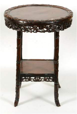Occasional table. China. 19th century. Round form.