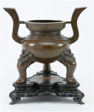 Bronze censer. China. Ming period (1368-1644). High