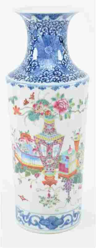 Chinese late 19th century underglaze blue and white