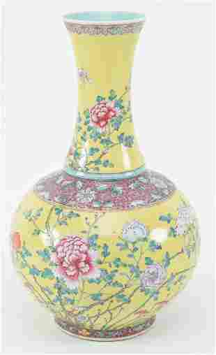 19th/20th century Chinese yellow ground porcelain